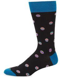 Bugatchi - Striped Dot Dress Socks - Lyst