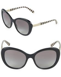 Giorgio Armani - 55mm Striped Oversized Sunglasses - Lyst