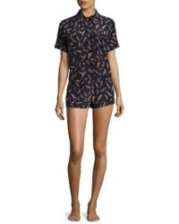 Araks - Shelby Printed Silk Charmeuse Pajama Top - Lyst