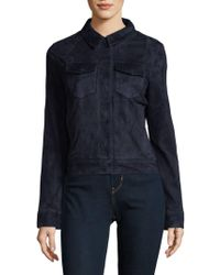 J Brand - Ethel Leather Jacket - Lyst