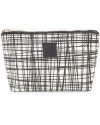 Saks Fifth Avenue - Crisscross-print Zip Pouch - Lyst