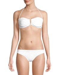 Shoshanna - U-slide Bandeau Bikini Top - Lyst
