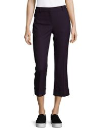 Elie Tahari - Quin Cropped Trousers - Lyst