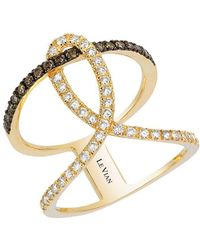 Le Vian - Chocolate And Vanilla Diamonds And 14k Honey Gold Neo Geo Ring - Lyst