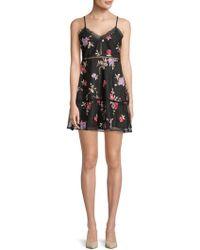 BB Dakota - Leean Floral A-line Dress - Lyst
