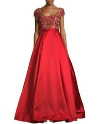 Mac Duggal - Embellished Scoopneck Dress - Lyst