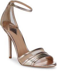 Aperlai - Metallic Ankle-strap Sandals - Lyst