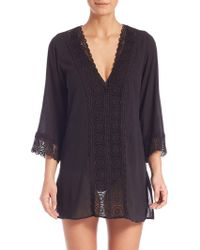 La Blanca - Island Fare Cotton Cover-up Tunic - Lyst