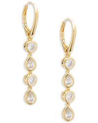 Adriana Orsini - Crystal Four-link Drop Earrings - Lyst