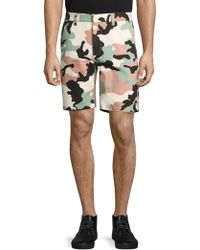 Wesc - Rai Printed Cotton Shorts - Lyst