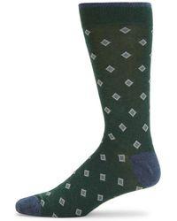 Saks Fifth Avenue - Classic Diamond Mid-calf Socks - Lyst