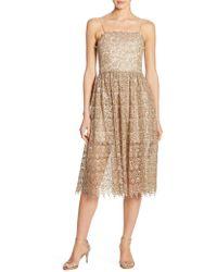 Alice + Olivia - Alma Lace Party Dress - Lyst