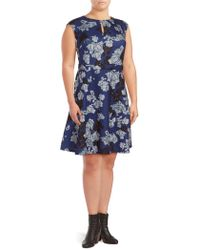 Alexia Admor - Floral Fit-&-flare Dress - Lyst