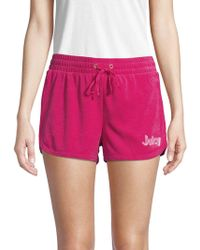 Juicy Couture - Juicy A Go-go Micro-terry Shorts - Lyst