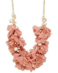 Natasha Couture - Faux Pearl Statement Necklace - Lyst