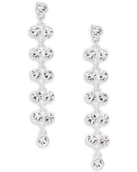 Kenneth Jay Lane - Studded Linear Earrings - Lyst