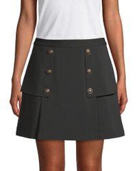Laundry by Shelli Segal - Crepe Novelty Mini Skirt - Lyst