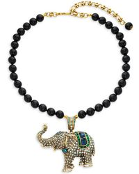 Heidi Daus - Crystal Elephant Beaded Pendant Necklace - Lyst
