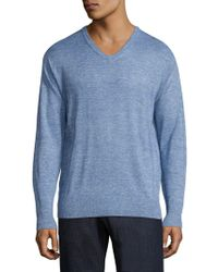 Peter Millar - Crown Wool & Linen Heathered Pullover - Lyst