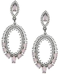 Saks Fifth Avenue - Crystal Drop Earrings - Lyst