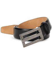 Saks Fifth Avenue - Plaque Leather Belt - Lyst