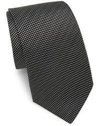 Saks Fifth Avenue - Silk Square Dot Tie - Lyst