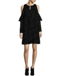 Nanette Nanette Lepore - Printed Cold Shoulder Dress - Lyst