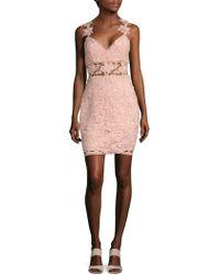 Nicole Miller - Sleeveless Floral Dress - Lyst