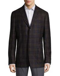 Saks Fifth Avenue | Plaid Wool Jacket | Lyst