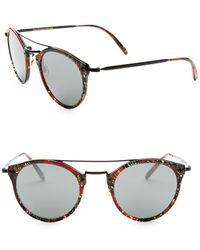 56dcb88b114 Oliver Peoples - Alain Mikli 50mm Palmier Red   Black Sunglasses - Lyst