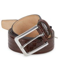 Saks Fifth Avenue - Embossed Leather Belt - Lyst