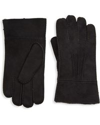 Saks Fifth Avenue - Collection Shearling-lined Suede Fold-over Gloves - Lyst