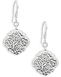 Lois Hill - Classic Sterling Silver Drop Earrings - Lyst