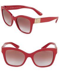 4a2b33799946 Dolce   Gabbana - Dg4309 53mm Squared Cateye Sunglasses - Lyst
