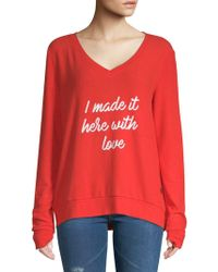 Peace Love World - Made It V-neck Top - Lyst