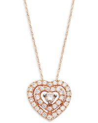 Le Vian - Chocolatier® Chocolate & Vanilla Diamondstm14k Strawberry Gold® Pendant Necklace - Lyst