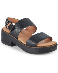 Gentle Souls - Talia Block Heel Leather Sandals - Lyst