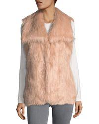 Via Spiga - V-neck Faux Fur Vest - Lyst