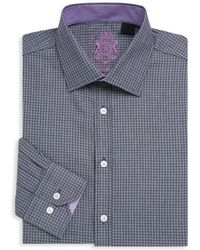 English Laundry - Textured Cotton Dress Shirt - Lyst