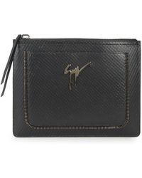 Giuseppe Zanotti - Top Zip Leather Pouch - Lyst
