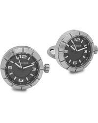 Jan Leslie Gunmetal Watch Cuff Links V5lhx5