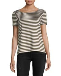 Lafayette 148 New York - Striped Short-sleeve Tee - Lyst