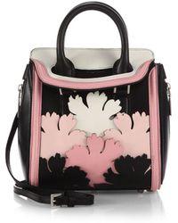 9f15e1963c2c Alexander McQueen - Heroine Mini Multicolour Floral-cutout Satchel - Lyst