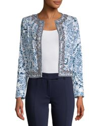 Robert Graham - Luana Printed Open Front Jacket - Lyst
