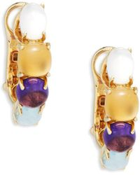 Roberto Coin - Stacked Gemstone Yellow Gold Earrings - Lyst