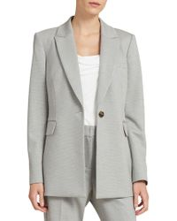 Donna Karan - Long Button Blazer - Lyst