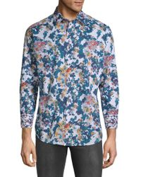 Robert Graham - Paril Creek Printed Cotton Button-down Shirt - Lyst