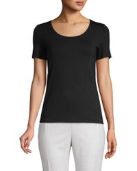 Saks Fifth Avenue Black - Iconic Fit Scoopneck Tee - Lyst
