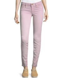Robin's Jean - Embroidered Logo Skinny Jeans - Lyst