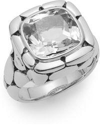 John Hardy - Batu Kali White Topaz & Sterling Silver Ring - Lyst